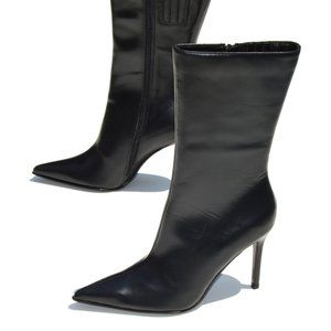 Colin Stuart Pointed Toe Black High Heeled Boots
